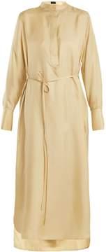 Joseph Marla stand-collar silk-twill dress