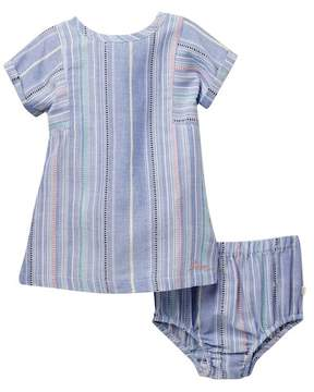 ED Ellen Degeneres Stripe Dress & Bloomer Set (Baby Girls)