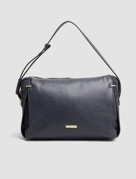 Calvin Klein pebble leather shoulder bag