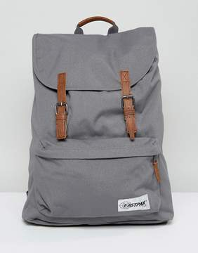 Eastpak London Backpack in Gray With Contrast Tan Straps