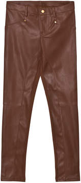 Mayoral Tan Pleather Jeggings