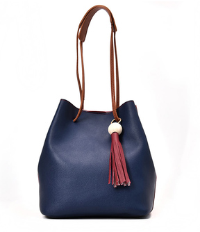 Shein Tassel Detail Drawstring Bucket Bag