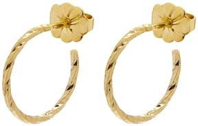 Myia Bonner Gold Mini Diamond Hoop Earrings