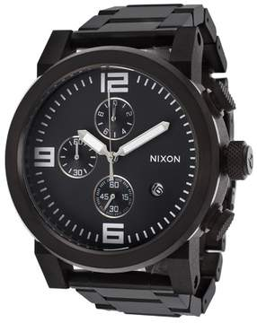 Nixon Men's Ride Chrono Black IP Stainless Steel and Dial