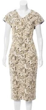 Christian Siriano Brocade Midi Dress