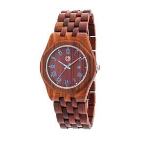 Earth Wood Unisex Red Bracelet Watch-Ethew5503