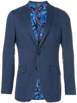 Etro textured pattern blazer