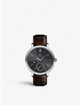 IWC IW510102 portofino leather watch