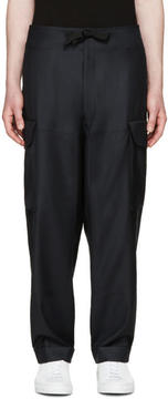 Paul Smith Navy Wool Cargo Pants