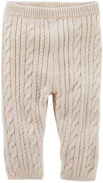 Osh Kosh Baby Girl Heathered Cable-Knit Sweater Leggings
