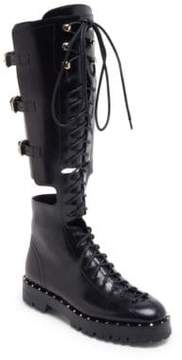 Valentino Soul Rockstud Leather Boots