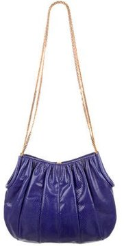 Judith Leiber Pleated Karung Shoulder Bag