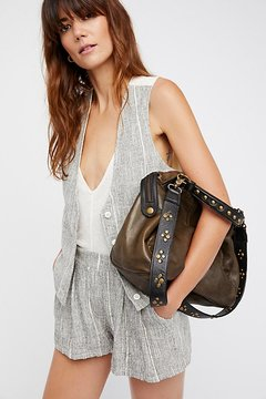 Ocean Side Leather Tote by Free People