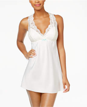 Flora Nikrooz Flora by Emma Lace-Trimmed Charmeuse Chemise