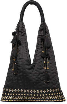 Ulla Johnson Lalo Embellished Satin Tote - Black