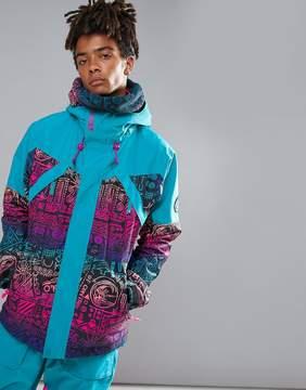 O'Neill Reissue 91 Extreme Ski Jacket in Blue 90s Print