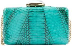 Kotur Turquoise Python Clutch Bag
