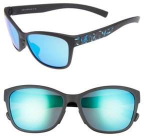 Women's Adidas Excalate 58Mm Mirrored Sunglasses - Black/ Floral/ Blue Mirror