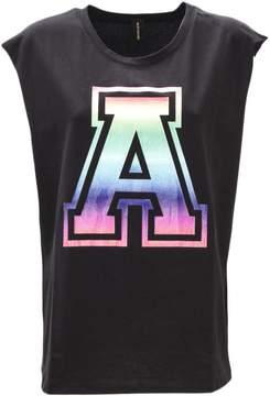 Alexandre Vauthier Black Cotton Long T-shirt