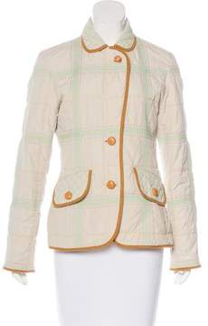 Escada Sport Check Quilted Casual Jacket
