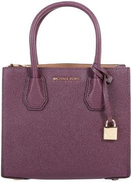 MICHAEL Michael Kors Mercer Leather Bag - PURPLE - STYLE