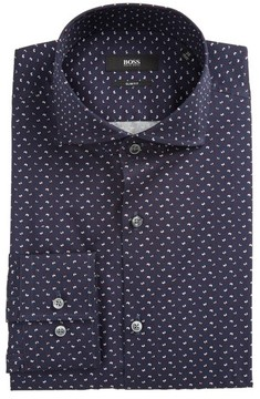 BOSS Men's Jason Slim Fit Print Dress Shirt