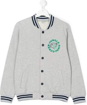 Kenzo jungle print varsity jacket
