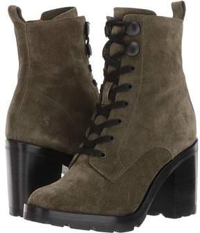Frye Myra Lug Combat Women's Lace-up Boots