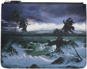 Givenchy Multicolor Blue Hawaii Pouch