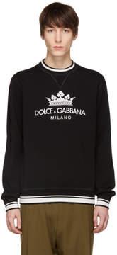Dolce & Gabbana Black Crown Sweatshirt