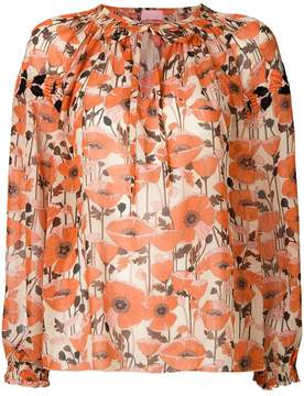 Giamba embroidered floral blouse
