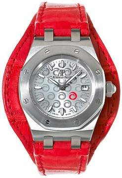Audemars Piguet Royal Oak Steel Red Ladies Watch