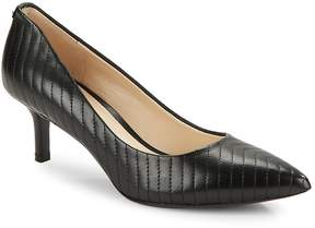 Karl Lagerfeld Paris Women's Rosette Leather Point Toe Pumps