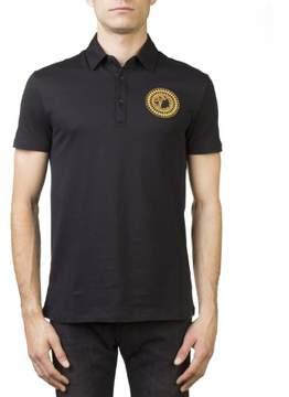 Versace Men's Medusa Logo Regular Fit Pima Polo Shirt Black