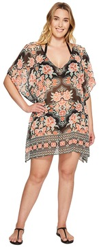 Becca by Rebecca Virtue Plus Size Southern Belle Chiffon Dress Cover-Up
