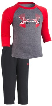 Under Armour Baby Boy Raglan Logo Tee & Bottoms Set