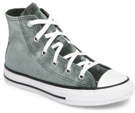 Converse Girl's Chuck Taylor All Star Velvet High Top Sneaker