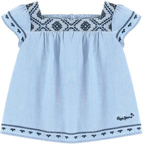 Pepe Jeans Embroidered tunic