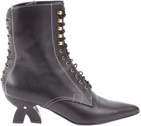 Loewe Leather lace up boots