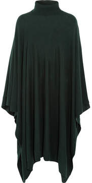 Eres Compagnon Wool And Cashmere-blend Poncho - Dark green