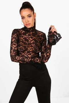 boohoo High Neck Lace Body