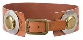 Diane von Furstenberg Leather Embellished Waist Belt