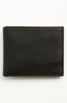 Polo Ralph Lauren Men's Bifold Leather Wallet - Black