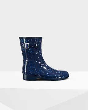 Hunter Women's Original Refined Constellation Print Short Rain Boots