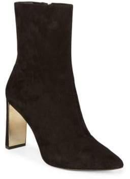 Donna Karan Zip Suede Boots