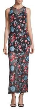 Alexia Admor Embroidered Sleeveless Dress