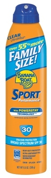 Banana Boat Sport Performance UltraMist Continuous Spray Sunscreen, SPF 30, Family Size
