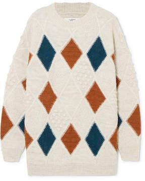 Etoile Isabel Marant Gink Argyle Alpaca-blend Sweater - Cream