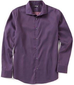 Murano Long-Sleeve Slim-Fit Spread Collar Floral Sportshirt