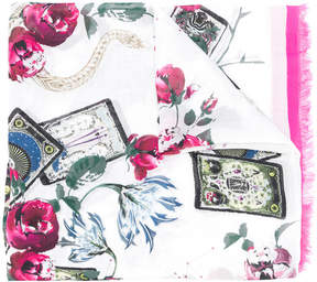 Roberto Cavalli floral-print scarf